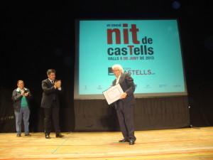 Joan Vallès premiat a la Nit de Castells