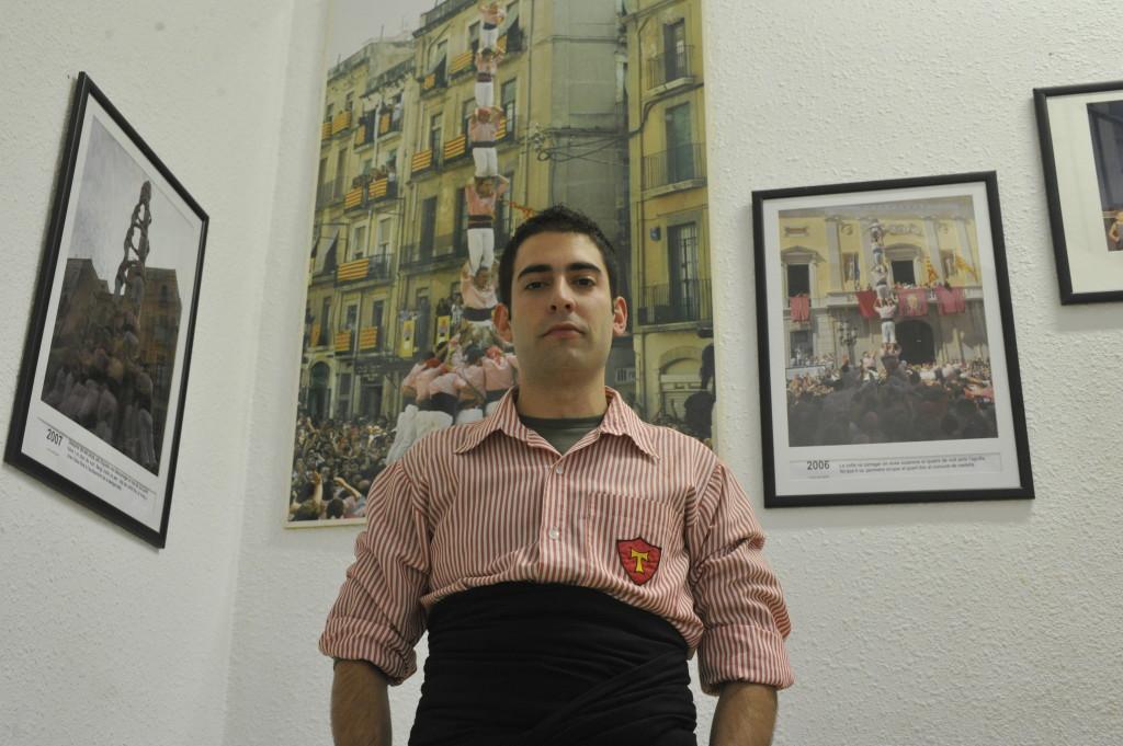 Sergio Catalan, baix dels Xiquets de Tarragona